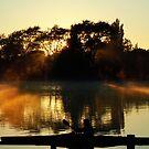 Sunrise at Henley Lake by Barbara Caffell
