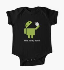 Android Om Nom Nom - Android Eat Apple Kids Clothes