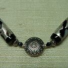 Black and Silver Necklace  by Erica Long