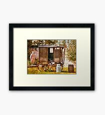 Americana - The Milk and Egg wagon  Framed Print