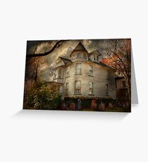 Fantasy - Haunted - The Caretakers House Greeting Card