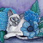 Blue Point Siamese Cat by EverIris