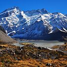 View from the Hooker Valley Track by S T