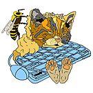 Beschäftigte Bienen-Miezekatze von Notsniw Art