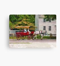 Transportation - Wagon - On way to the market  Canvas Print