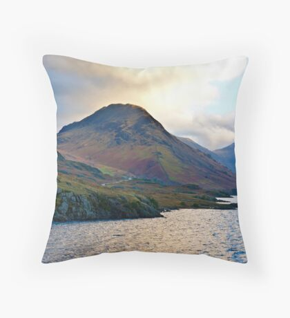 Early Morning at Wast Water Throw Pillow
