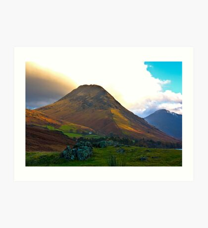 High Fell above Wast Water. Art Print