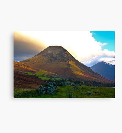 High Fell above Wast Water. Canvas Print