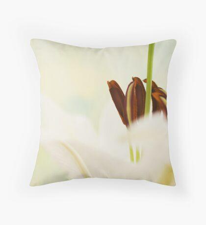 White beauty Throw Pillow