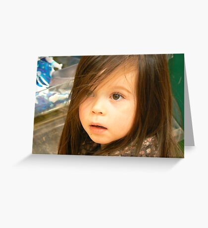 the little girl- strongly loving sweet Greeting Card