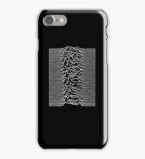 Unknown Pleasures - Joy Division white iPhone Case/Skin