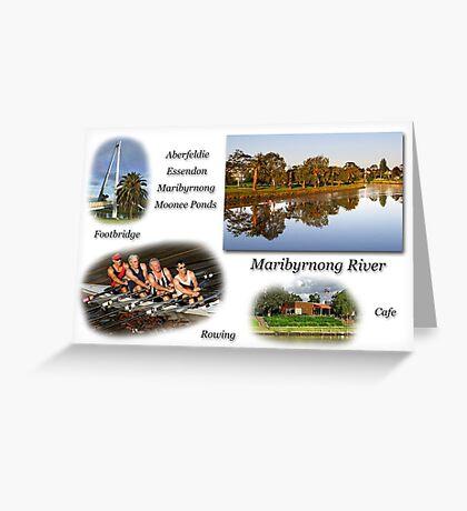 Maribyrnong River Greeting Card