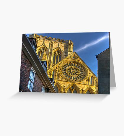 A Closer View of the Rose Window - York Minster Greeting Card