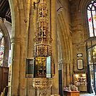 ST Wulframs Church Font Grantham,England by Ray Clarke