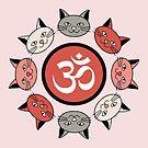Pretty Pinks Kitty Mandala by mintdawn