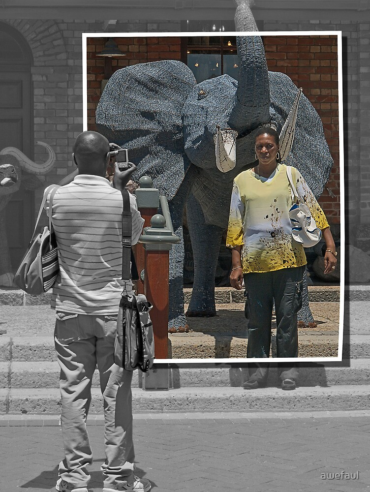 With an elephant in Africa by awefaul