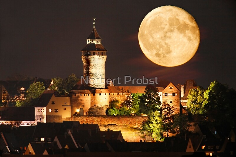 moon over nbg by norbert probst redbubble. Black Bedroom Furniture Sets. Home Design Ideas