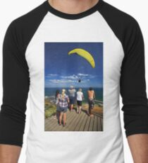 Paragliding at Torquay Men's Baseball ¾ T-Shirt
