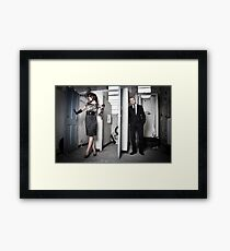On Location Fashion shoot Framed Print