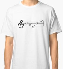 INDIE - Words in Music - V-Note Creations  Classic T-Shirt