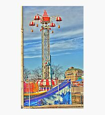 Coney Island amusement park Photographic Print
