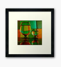 Hot Air Balloons... No just Glass Framed Print