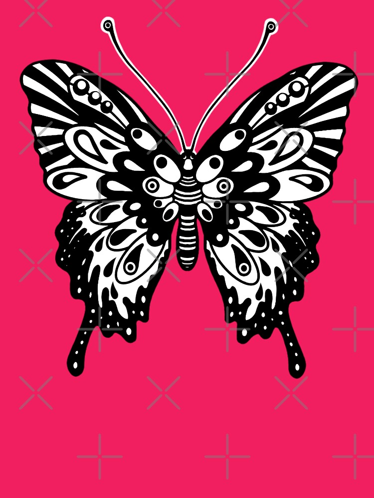 Original Butterfly Design Black and White by Sookiesooker