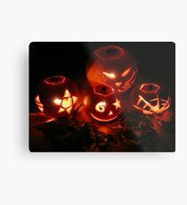 Jack-o-lanterns Metal Print