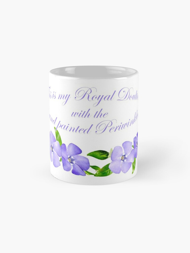 Alternate view of Royal Doulton with Hand Painted Periwinkles Mug