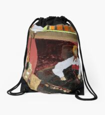 Woman outside of time Drawstring Bag