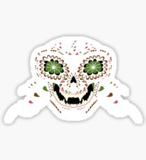 Monkey Sugar Skull Sticker