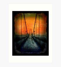 Crossing that Bridge - in Harmony Art Print