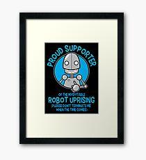 Robot Uprising 2 Framed Print