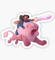 Connie and Lion Sticker