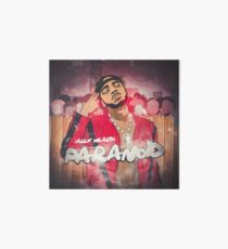 Alex Wealth - Paranoid Cover Art for Merchandise  Art Board Print