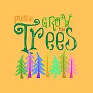 Please Grow the Trees Whimsical Forest by EvePenman