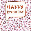 Buddleigha Birthday Card by Vicky Webb