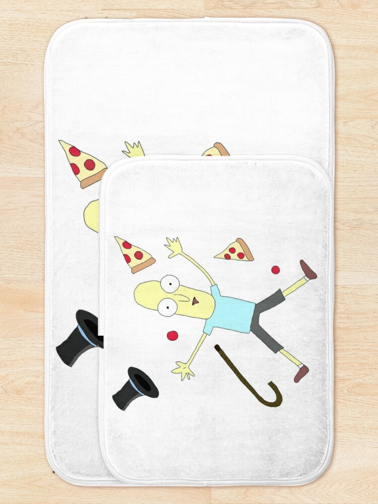 Alternate view of Mr Poopy Butthole is waiting for next season rick and morty fan art Bath Mat
