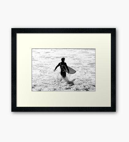 Going Surfing Framed Print