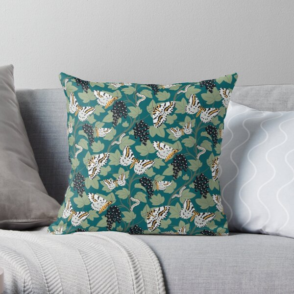 Magpie moths Throw Pillow