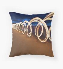 Running with Fire I Throw Pillow