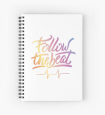 Follow the beat in colors Spiral Notebook