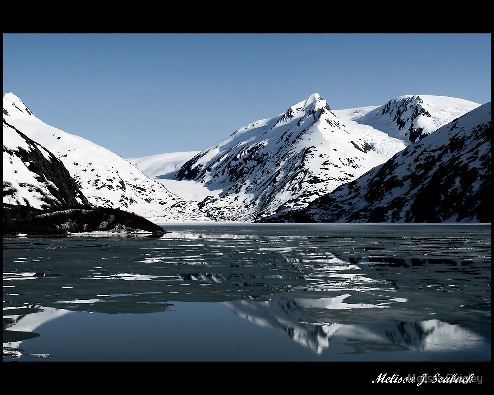 Reflections - Portage Glacier  by Melissa Seaback