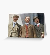 3 surviving crew members of RMS Titanic Greeting Card