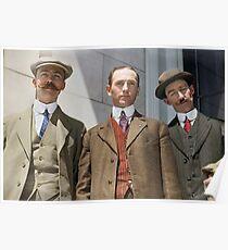 3 surviving crew members of RMS Titanic Poster
