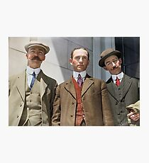 3 surviving crew members of RMS Titanic Photographic Print