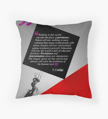 The Power of Persistence (Quotation) Throw Pillow
