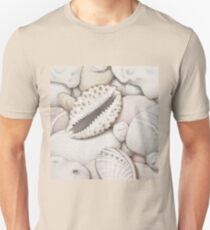 Pebbles, Cowrie & Abalone Shells T-Shirt