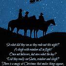 Country Western Cowboy Weihnachten von Stephanie Laird