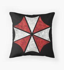 Resident Evil Umbrella Typography Throw Pillow